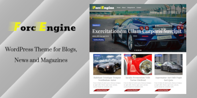 ForcEngine - WordPress Theme for Blogs, News and Magazines
