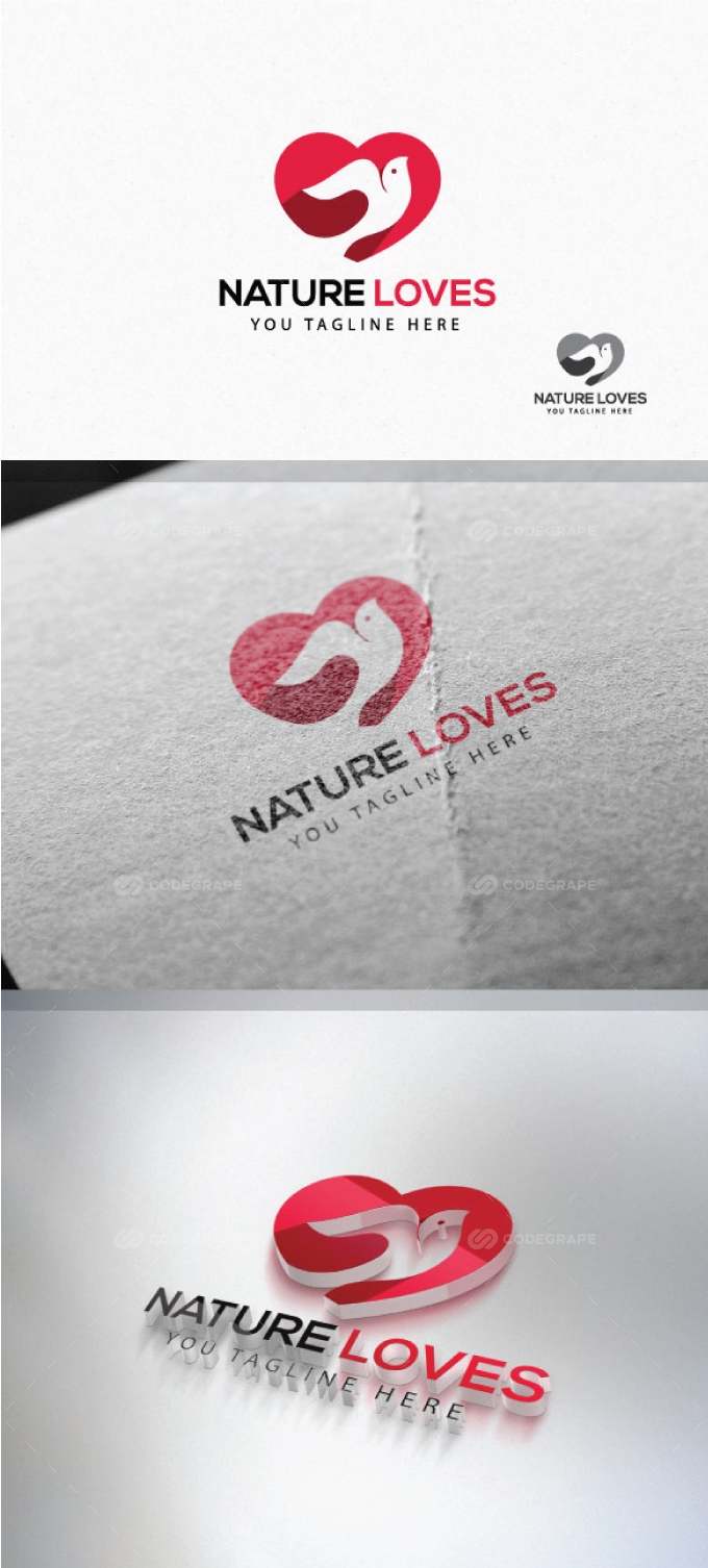 Bird Heart Logo