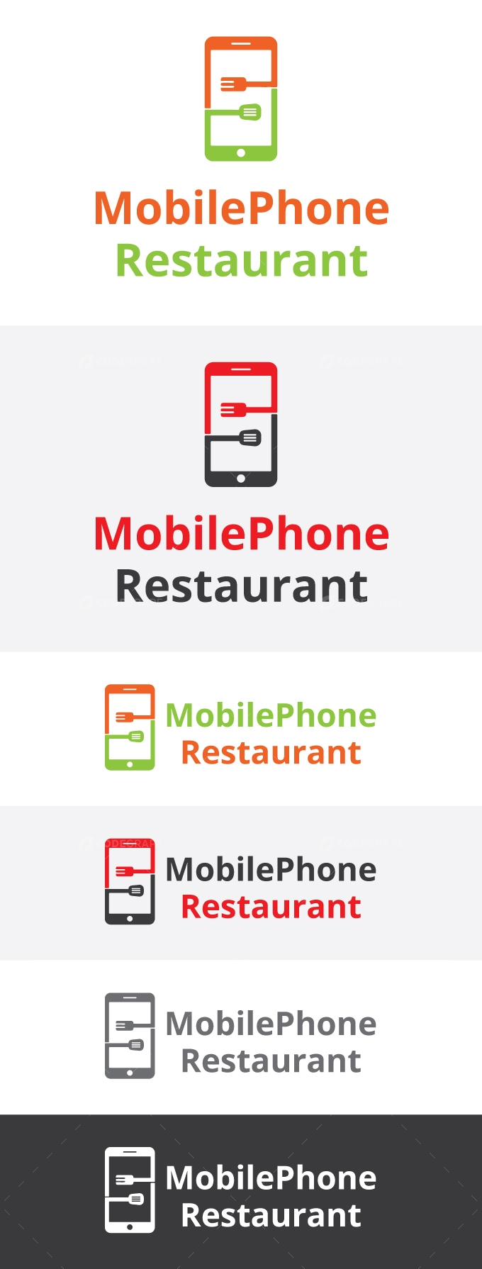 Mobile Phone Restaurant Logo