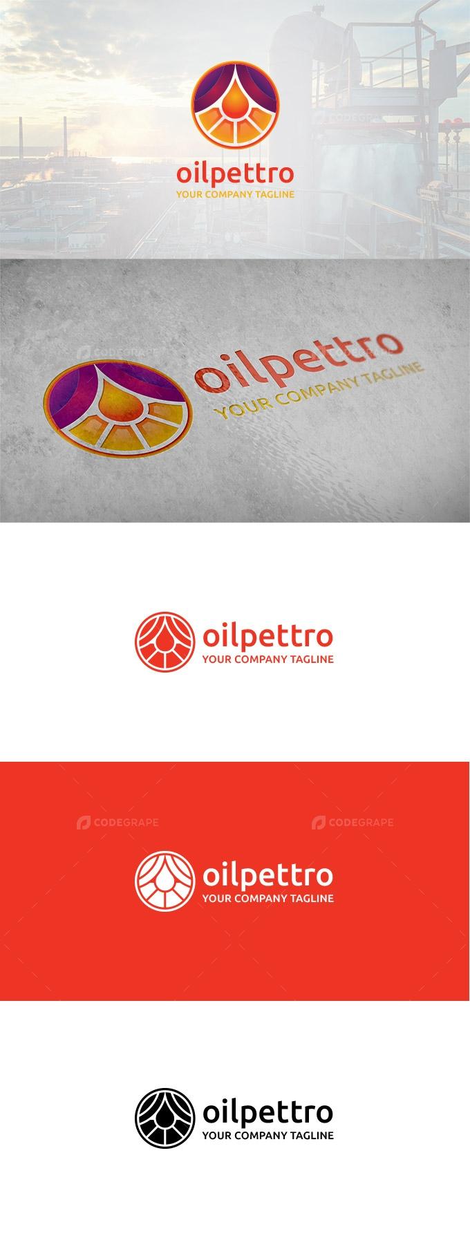 Oilpettro - Oil Company Logo