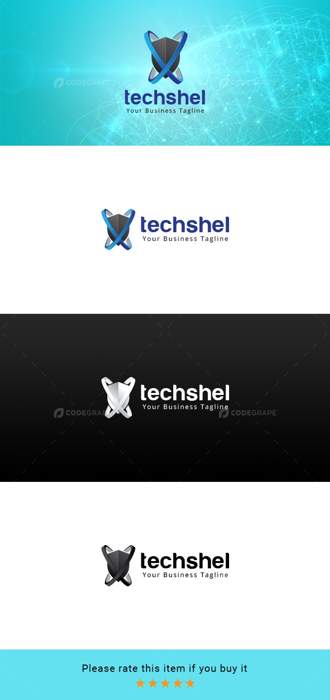 Techshel - Technology Company Logo