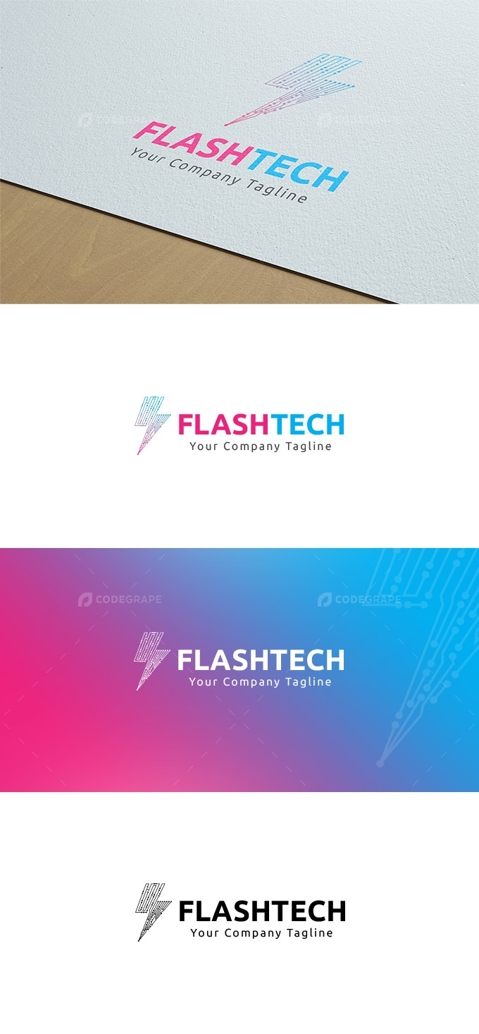 Flash Tech - Technology Company Logo
