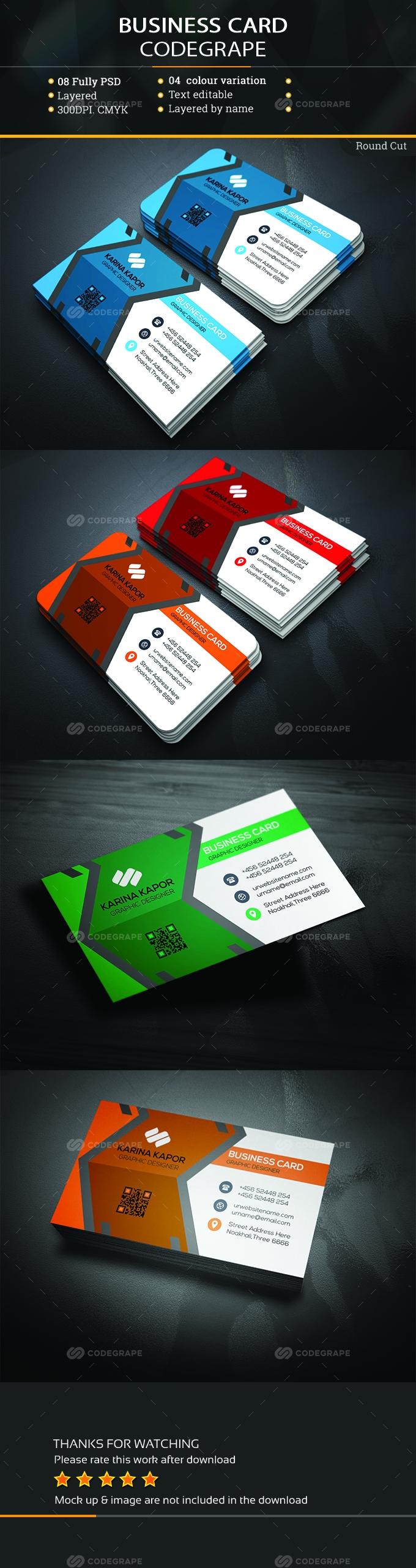 Single Business Card