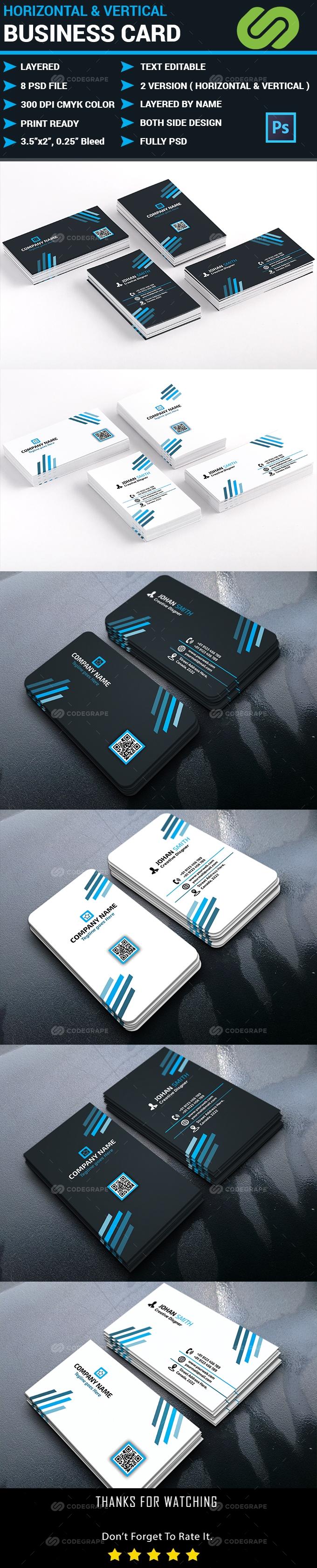 Horizontal & Vertical Business Card