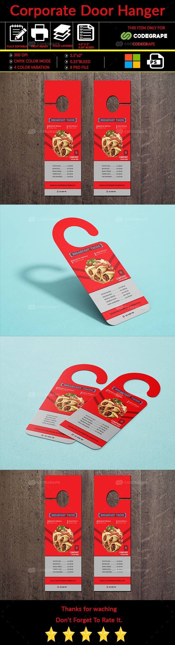 Corporate Door Hanger