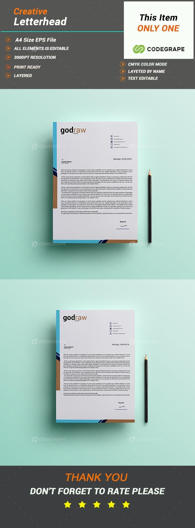 Creative Letterhead Design