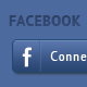 Facebook Login Button PSD