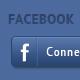 Facebook Login Button PSD