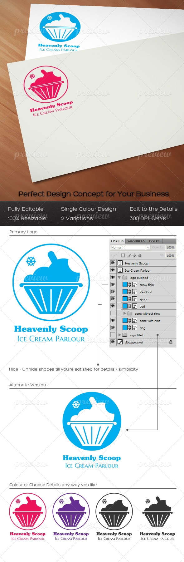 Heavenly Scoop Logo