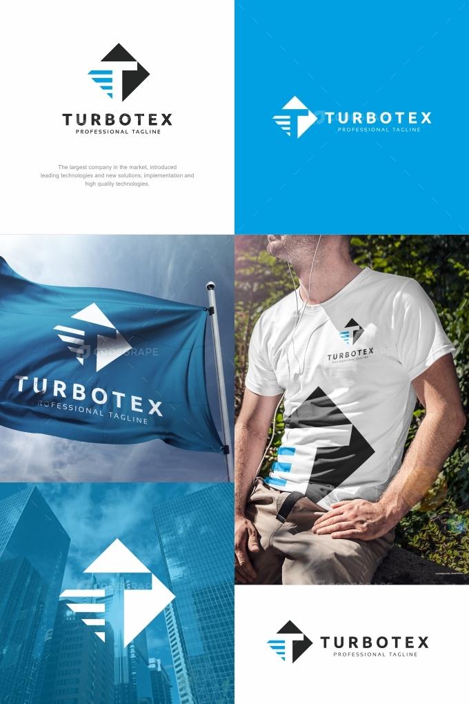 Turbotex T Letter Logo