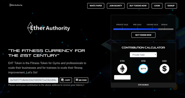 EtherAuthority : Initial Coin Offering Script