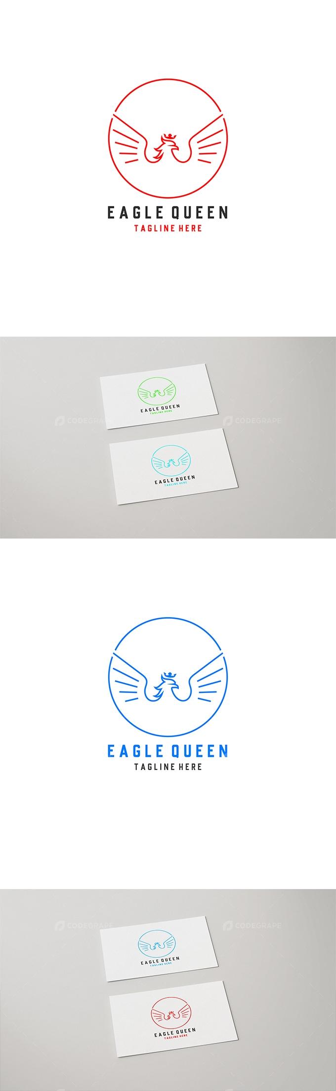 Eagle Queen Logo Design