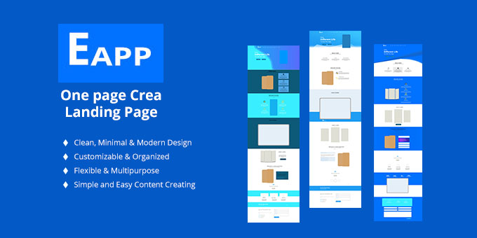 EAPP - Mobile app Landing Page - PSD Template