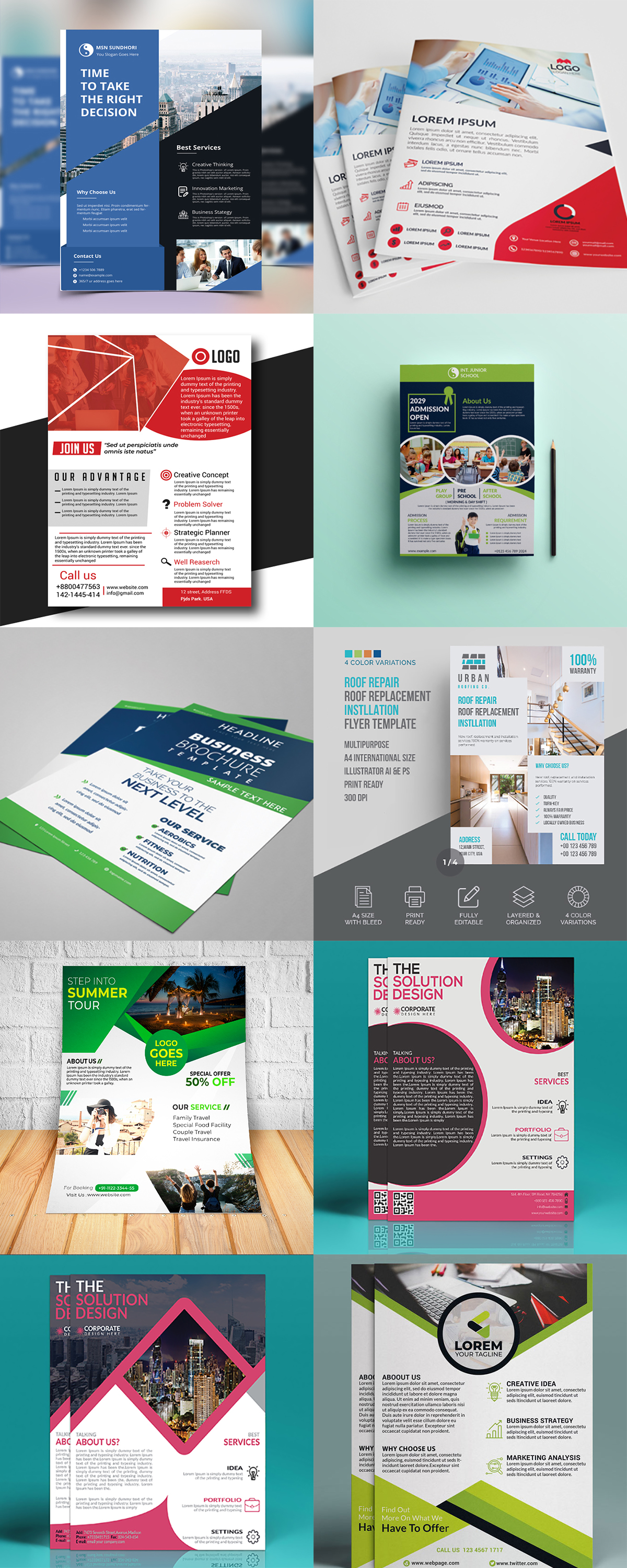 120 Concert Flyer Templates Bundle with Extended License - images 1