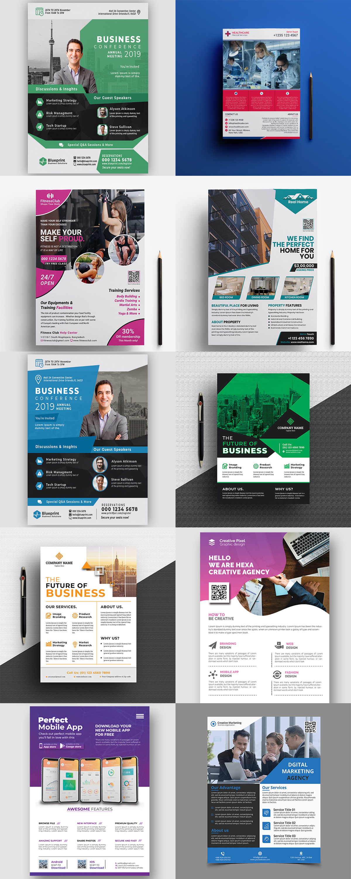 120 Concert Flyer Templates Bundle with Extended License - images 11