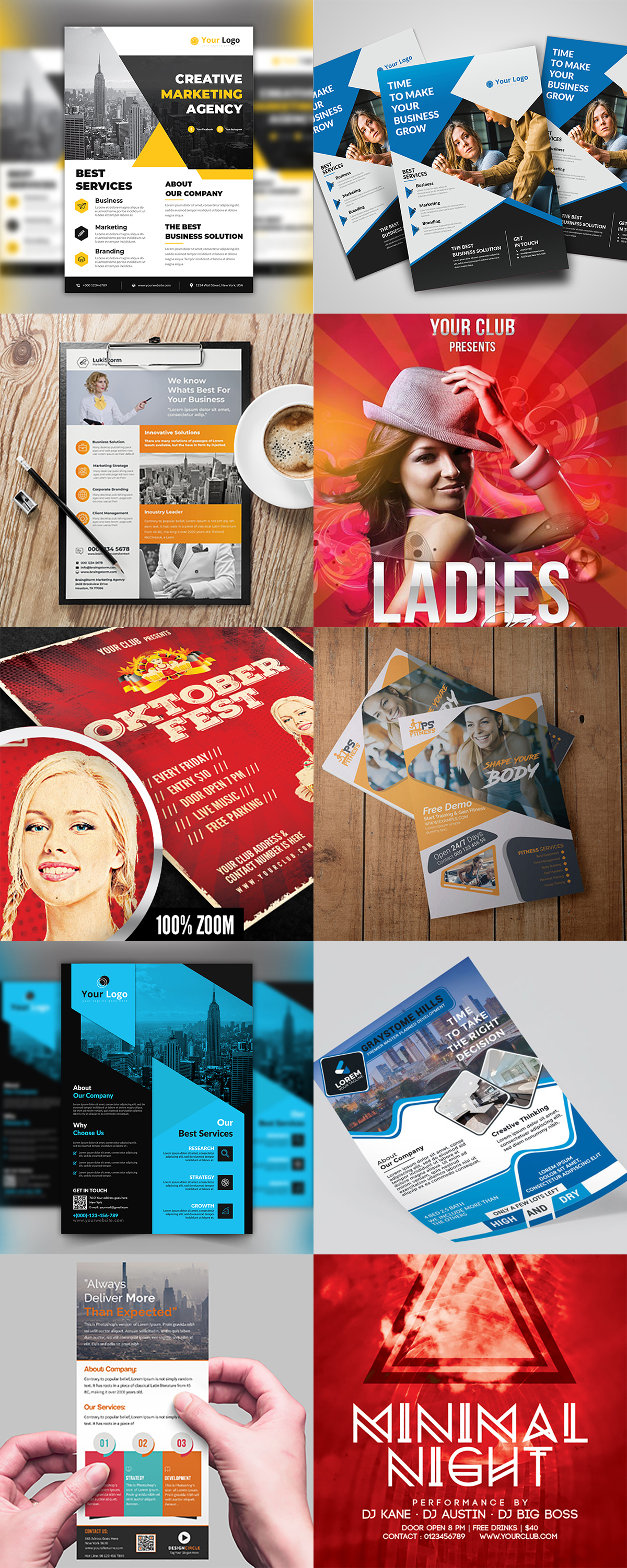 120 Concert Flyer Templates Bundle with Extended License - images 2