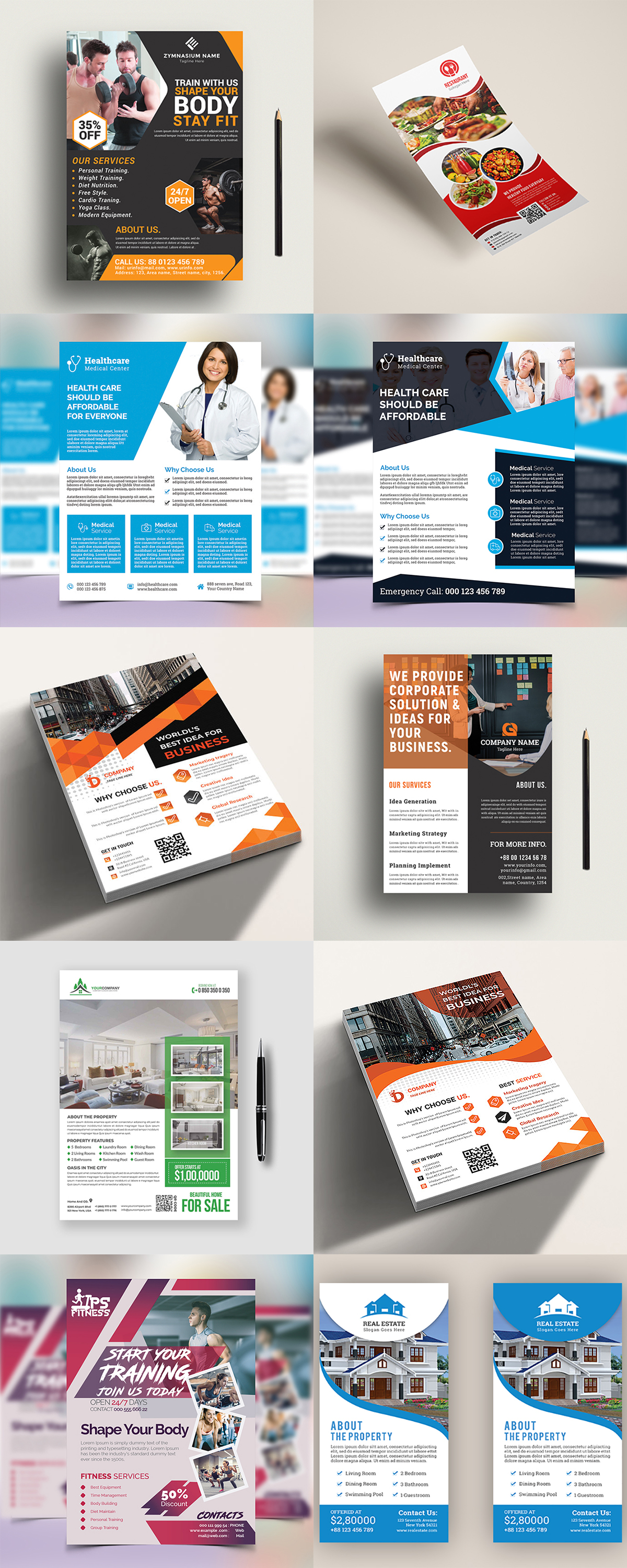 120 Concert Flyer Templates Bundle with Extended License - images 4