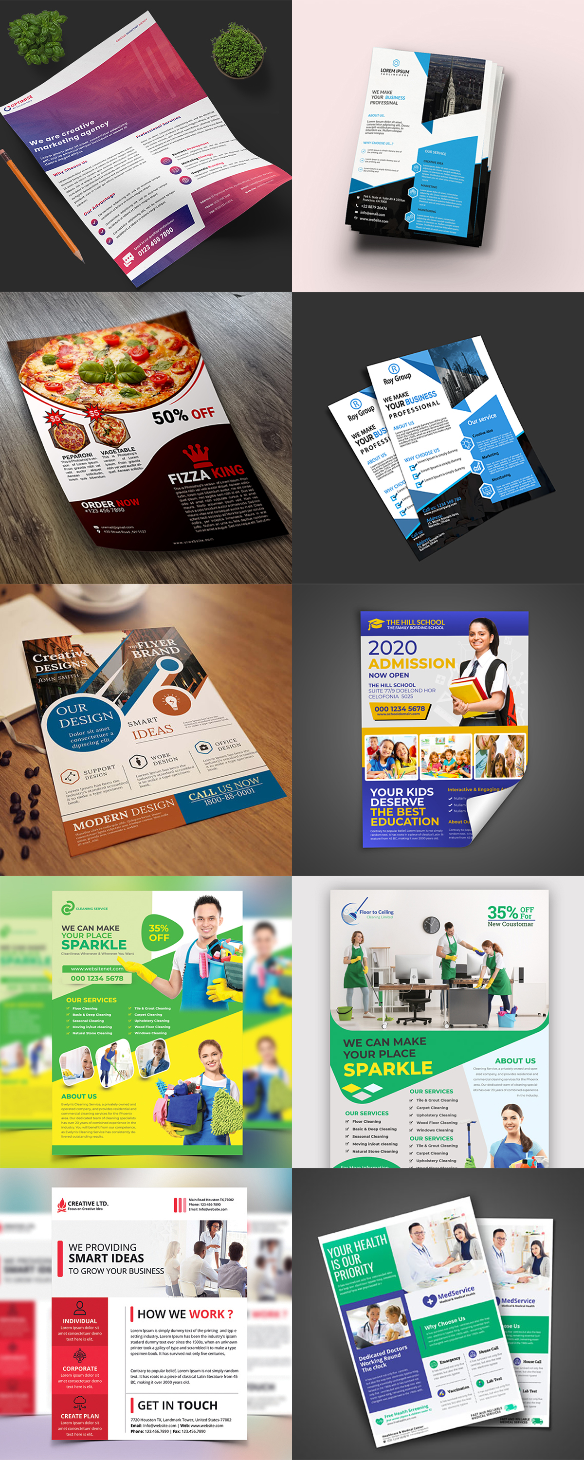 120 Concert Flyer Templates Bundle with Extended License - images 7