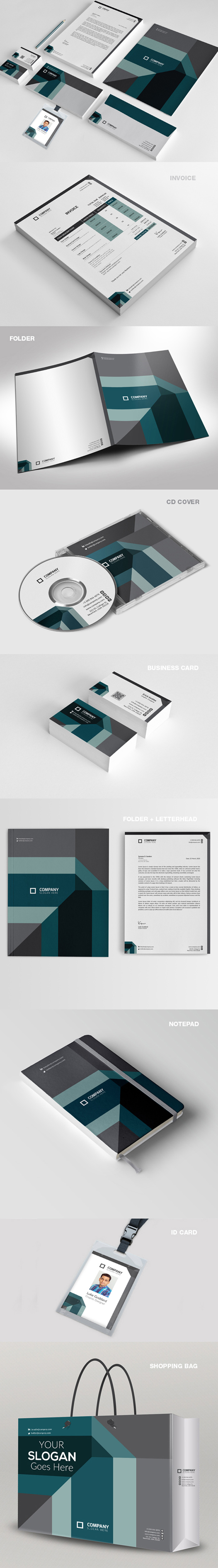 50 Corporate Identities with Extended License - 10