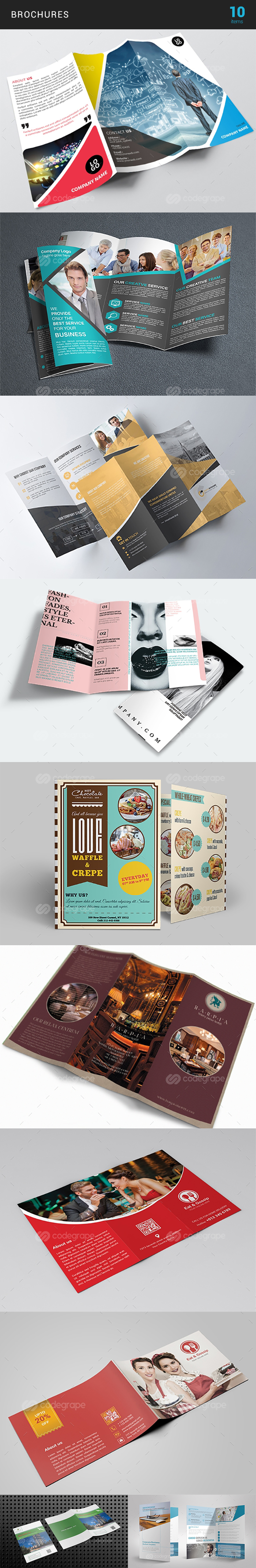 Elegant Print Templates Bundle with 100 Items - Only $19 - brochure