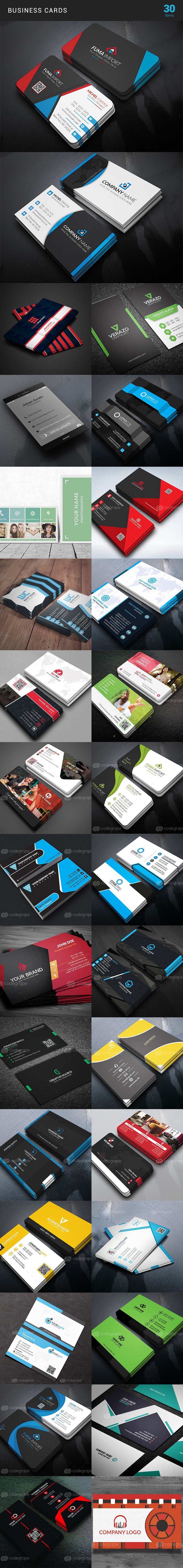 Elegant Print Templates Bundle with 100 Items - Only $19 - business card