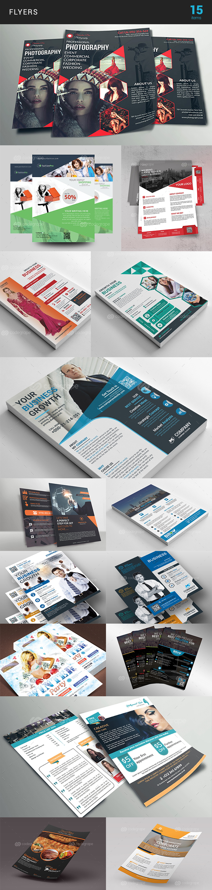 Elegant Print Templates Bundle with 100 Items - Only $19 - flyer