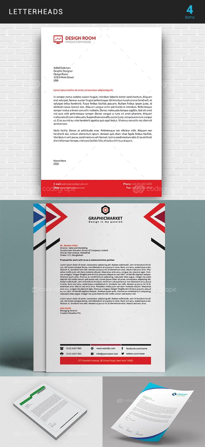 Elegant Print Templates Bundle with 100 Items - Only $19 - letterhead