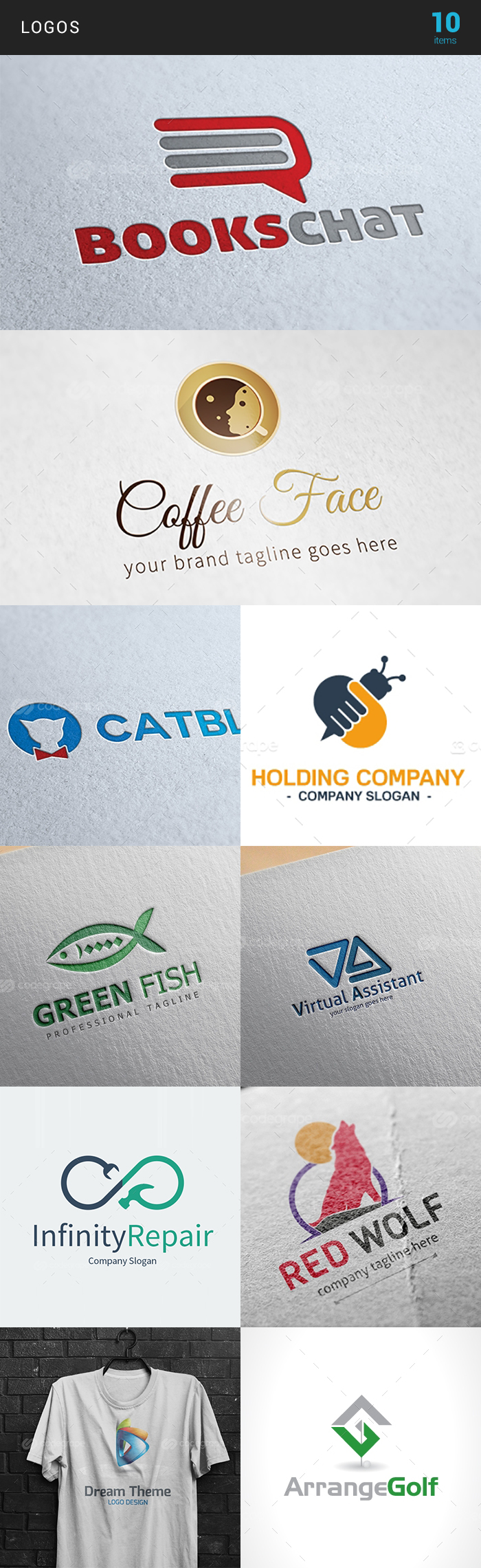 Elegant Print Templates Bundle with 100 Items - Only $19 - logo