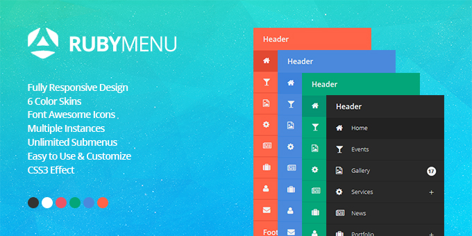 Essential Web Design Bundle with Extended License - Only $29 - codegrape 10425 rubymenu responsive jquery accordion navigation