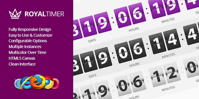 Essential Web Design Bundle with Extended License - Only $29 - codegrape 11301 royaltimer multicolor countdown timer