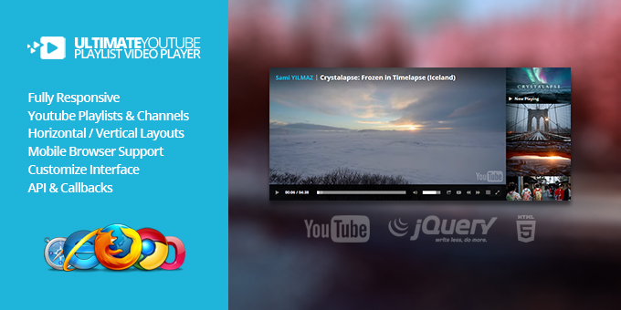 Essential Web Design Bundle with Extended License - Only $29 - codegrape 11895 ultimate youtube playlist video player