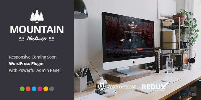 Essential Web Design Bundle with Extended License - Only $29 - codegrape 12163 mountain responsive coming soon wordpress plugin