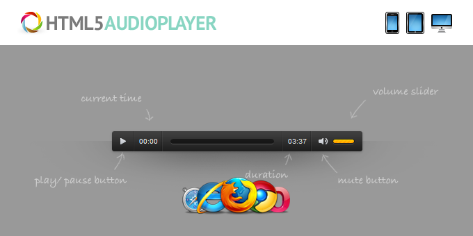 Essential Web Design Bundle with Extended License - Only $29 - codegrape 1600 html5 audio player