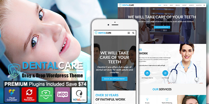 Essential Web Design Bundle with Extended License - Only $29 - codegrape 17424 dentist dental one page wordpress theme
