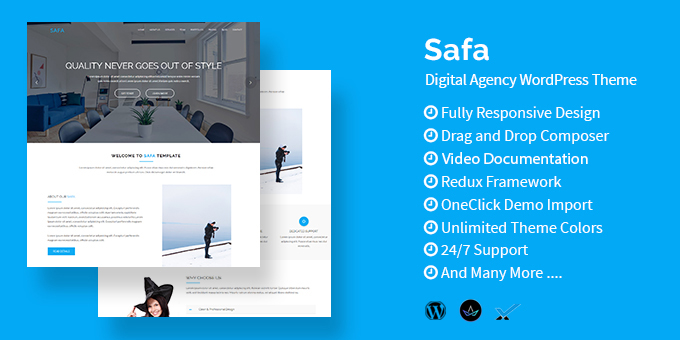 Essential Web Design Bundle with Extended License - Only $29 - codegrape 18564 safa multipurpose business wordpress theme