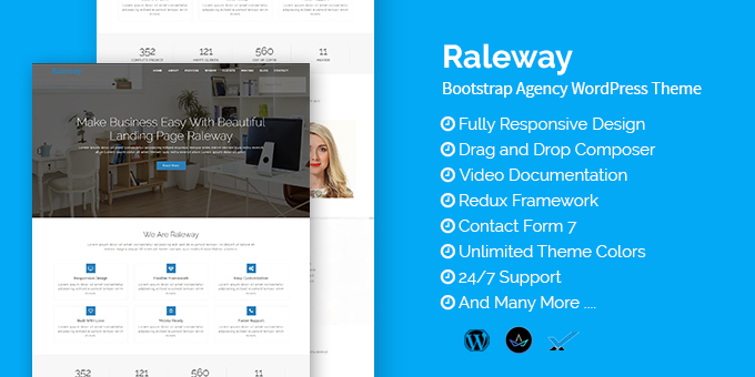 Essential Web Design Bundle with Extended License - Only $29 - codegrape 18565 raleway bootstrap agency wordpress theme