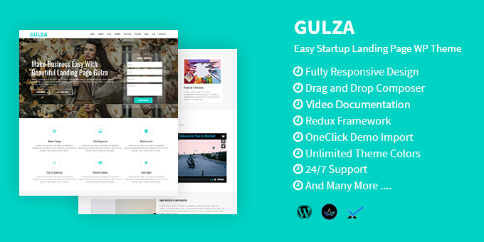 Essential Web Design Bundle with Extended License - Only $29 - codegrape 18626 gulza easy startup landing page wordpress theme