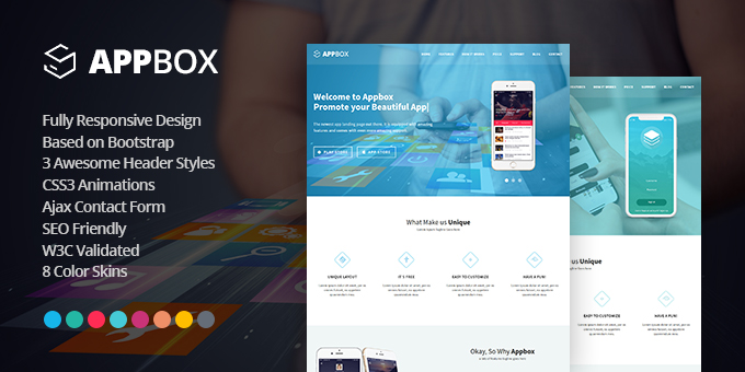 Essential Web Design Bundle with Extended License - Only $29 - codegrape 19097 appbox responsive app landing template