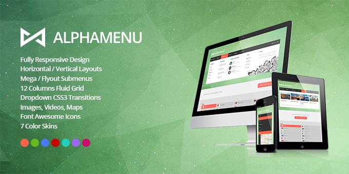 Essential Web Design Bundle with Extended License - Only $29 - codegrape 5220 alphamenu responsive jquery mega menu
