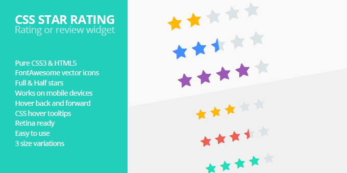 Essential Web Design Bundle with Extended License - Only $29 - codegrape 7582 css star rating
