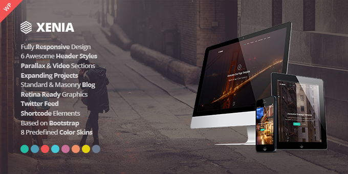 Essential Web Design Bundle with Extended License - Only $29 - codegrape 8317 xenia responsive one page parallax wordpress theme