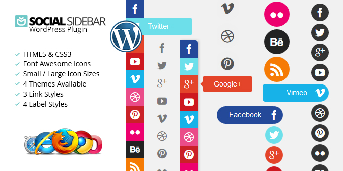 Essential Web Design Bundle with Extended License - Only $29 - codegrape 9732 social sidebar wordpress plugin