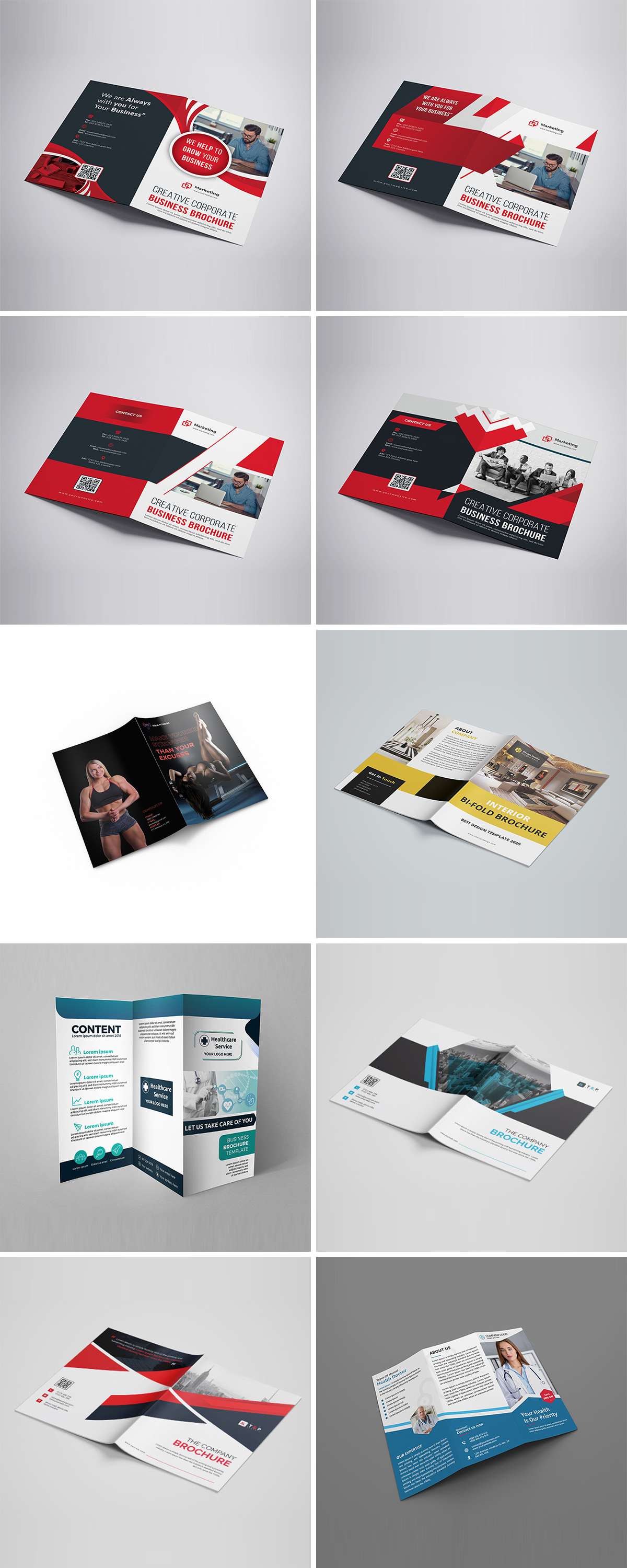Royal Print Templates Bundle with 160 Items - Only $19 - brochures 2