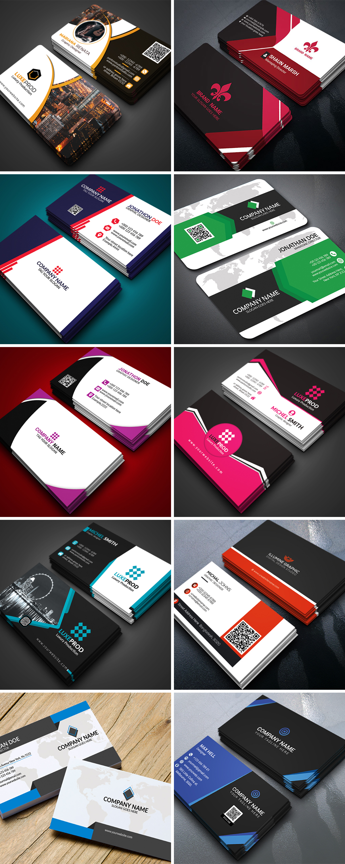 Royal Print Templates Bundle with 160 Items - Only $19 - business cards 4