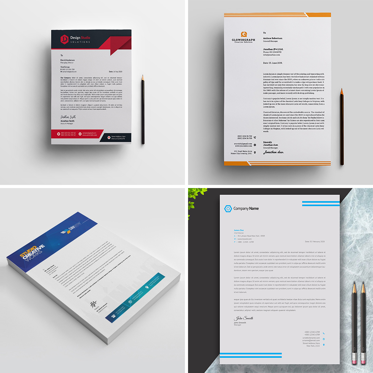 Royal Print Templates Bundle with 160 Items - Only $19 - letterheads