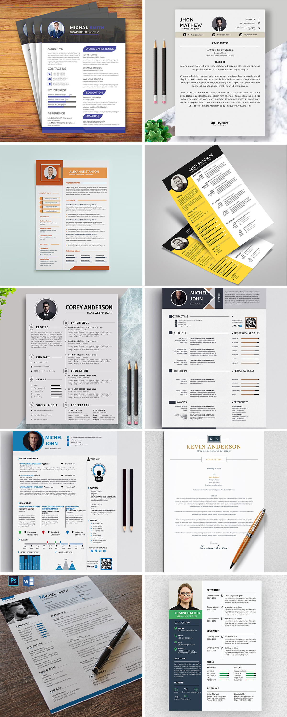 Royal Print Templates Bundle with 160 Items - Only $19 - resumes 1