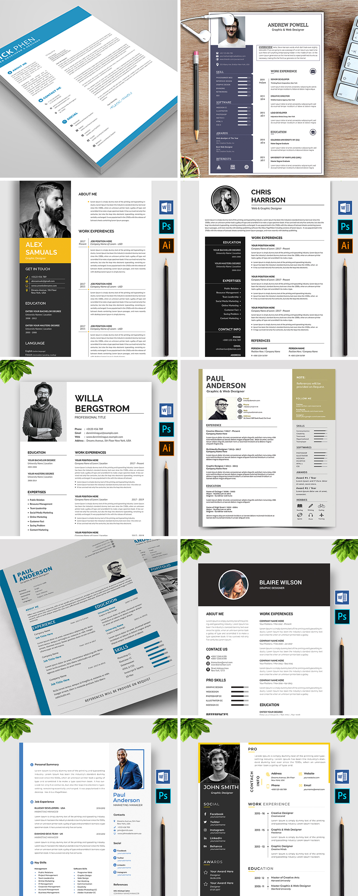 Royal Print Templates Bundle with 160 Items - Only $19 - resumes 2