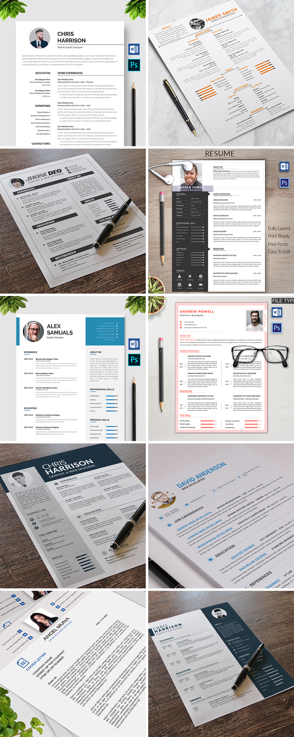 Royal Print Templates Bundle with 160 Items - Only $19 - resumes 3